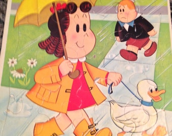 Pair of Little Lulu Puzzles by Whitman 1973 Frame Tray Puzzle