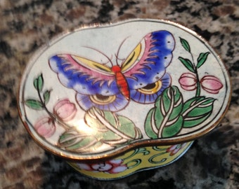 Enamel and CopperButterfly Box