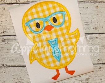 Mr. Easter Chick Applique Design