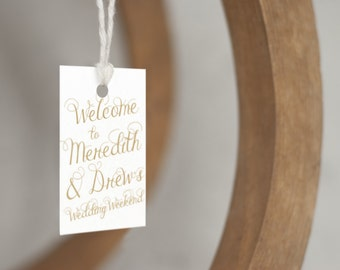 Welcome Bag Tags, wedding welcome gift tags, destination wedding welcome bag tags, welcome gift bag, wedding weekend tags