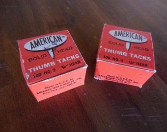 American Solid Head Thumb Tacks