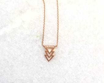 Cairo Necklace- Rose Gold Arrow Charm