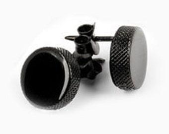 Hockey Puck Post Earrings