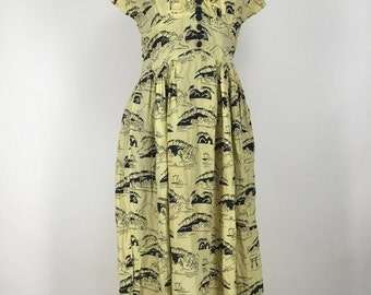 ON SALE Hand Sewn Vintage 1930s Dress