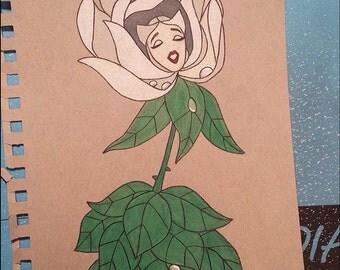 White rose art/ alice in wonderland fan art