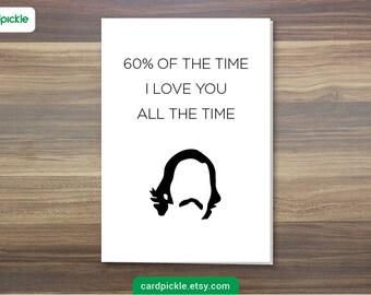 DOWNLOAD Printable Card - I Love You Card - Brian Fantana Card - Anchorman - Happy Birthday - Happy Anniversay - Valentines Card