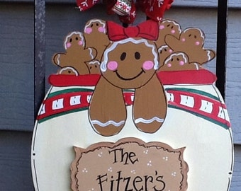 Gingerbread cookie jar, gingerbread sign, cookie jar sign, gingerbread door sign, cookie jar door sign, christmas cookie sign, holiday sign