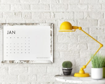 SALE Desk Calendar 2016 Printable DIY Agenda Template Instant Download