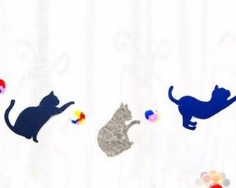 Felt Cat Banner