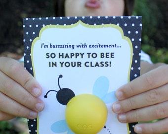 Bee EOS Lip Balm Teacher Gift Printable - PDF Printable - Teacher Appreciation, Thank You, Summer gift, Back to School