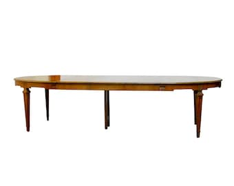 Baker French Collection Walnut Dining Table