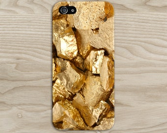 Gold Glitter Stone x Bling Phone Case Texture iPhone 6 iPhone 6 Plus Tough iPhone Case Galaxy s8 Samsung Galaxy Case Handmade CASE ESCAPE