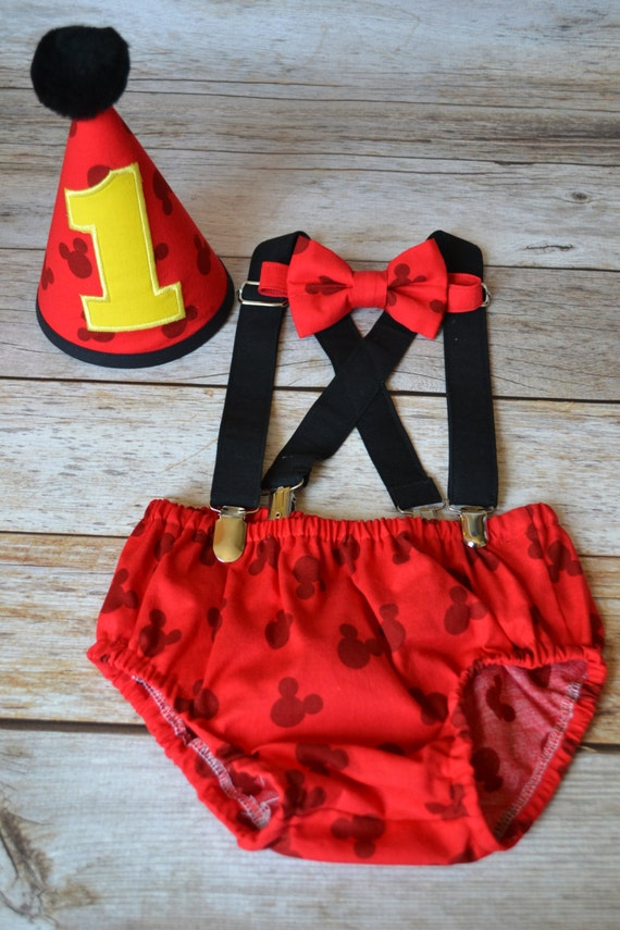 Mickey Mouse St Birthday Cake Smash Outfit