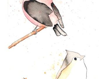 Two Birds - Original Watercolor