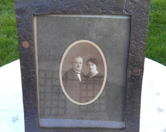 French Vintage Metal picture/photo frame