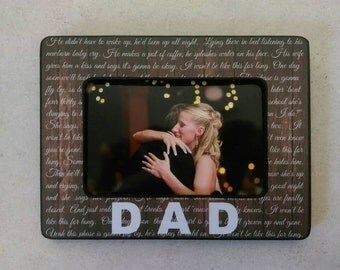 It Won't Be Like This for Long picture frame | Custom Sing Lyric Picture Frame | Personalized First Dance Frame