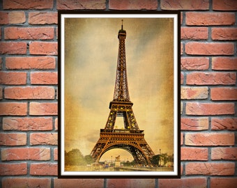 Vintage Paris Print, Eiffel Tower, Print Art, vintage poster, Eiffel Tower print *43*