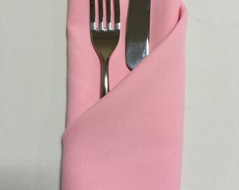 Baby Pink Napkins (Sold Individually) - Made from polyester fabric not cotton.