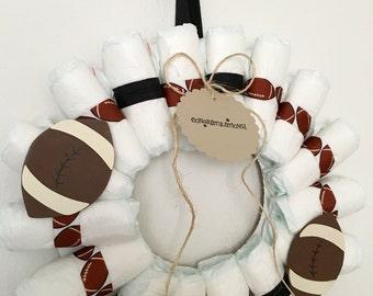 Football Diaper Wreath
