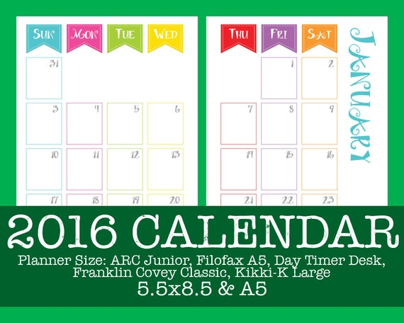 Arc Calendar Printables : Calendar carnival arc filofax day timer and