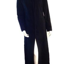 Marvin Richards Wool Black Pea Coat - Size 8