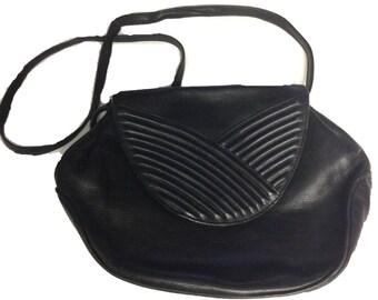 Aleda Genuine Leather Black Shoulder Bag - Made in Italy