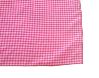 Vintage Pink Checkered Gingham Scarf