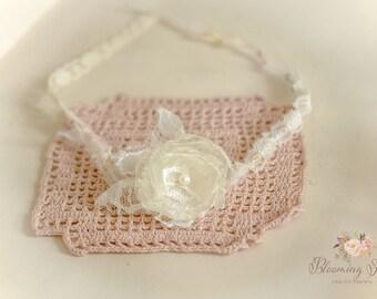 Elegant Ivory Newborn tieback. Newborn Photography Prop.