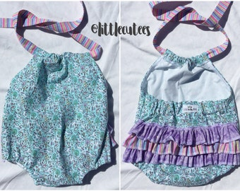 Sale!! Sun suit Romper. Baby Romper. Floral Rompers. Unicorn romper. Baby girl Rompers. FREE HEADBAND W/ PURCHASE!