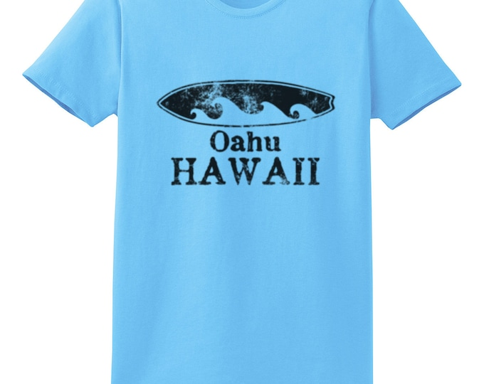 Oahu Hawaii Surfboard T-Shirt