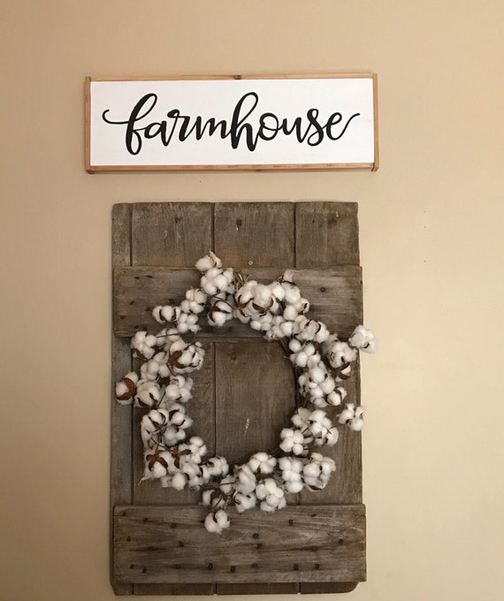 Farmhouse Fixer Upper Style Wood Sign Wall Decor Art Framed