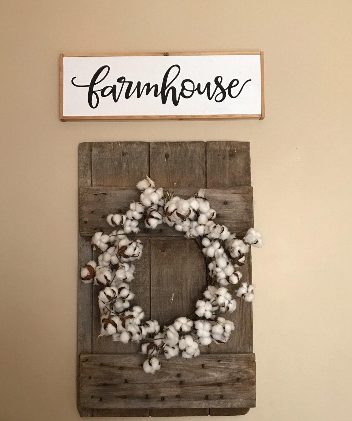 Farmhouse Fixer Upper Style Wood Sign Wall Decor Art by KHRustics