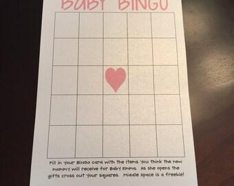 DIGITAL DOWNLOAD Baby Shower BINGO