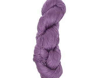 "Milk Yarn - DK/sock weight in ""Purple"""