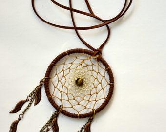 Dreamcatcher Pendant Necklace Tiger eye