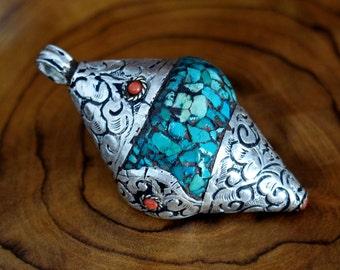 Conch Shell Tibetan Pendant