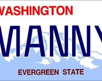 Personalized Washington Refrigerator Magnet State License Plate Replica