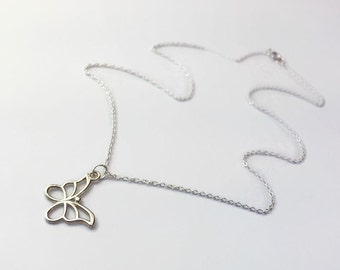 Sterling Silver Butterfly Necklace. Pretty 925 silver necklace. Gifts for her UK
