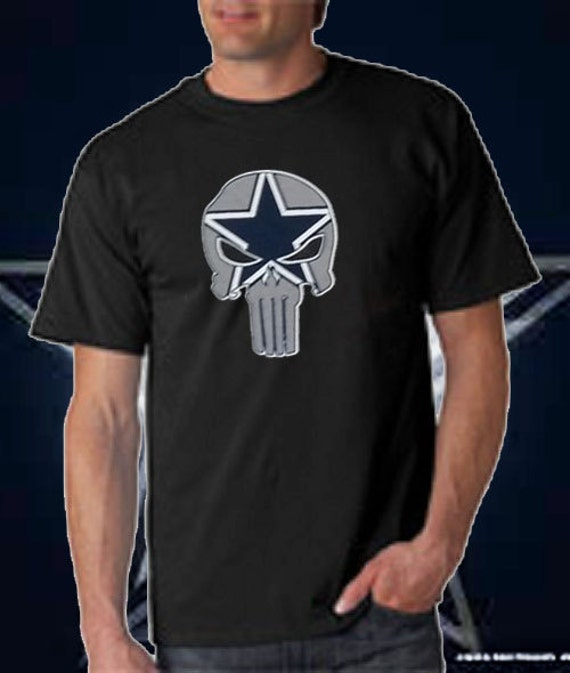 Dallas Punisher T Shirt Cowboys Team Colors By
