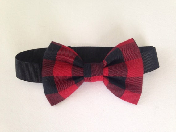 4c9a318923f7 ... Red And Black Bow Tie: Red And Black Buffalo Plaid Bow Ties Plaid Bow  Ties