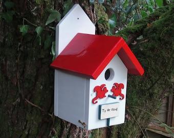 Dragon Bird House/Personalised/Bird Box/Nesting Box/Dragons/Father's Day/Fantasy/Celebrations/Wales/Welsh Dragon