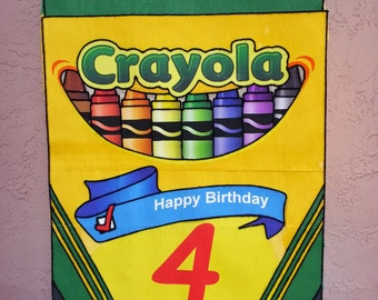 Amazing Crayons Party Customize pinata Party   !!!!