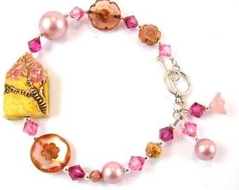 Pink Blossom House Bracelet