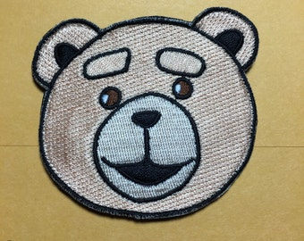 Ted bear morale patch with hook velcro only