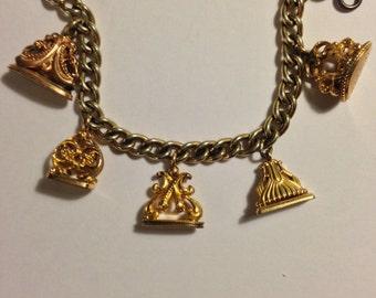 Vintage Watch Fob Bracelet Gold Filled