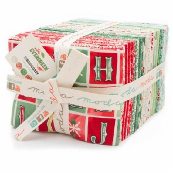 Evergreen Christmas Holiday Fat Quarter Bundle by Basic Grey