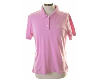 Kappa Womens Polo Shirt Size 20 XL Pink Cotton