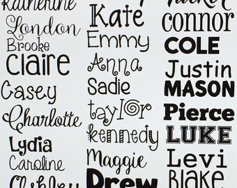 Name Decal - Name Vinyl Decal - Vinyl Decal - Label - Vinyl Name Decal - Outdoor Vinyl Decal - Decal -Monogram Decal - Decal - Label