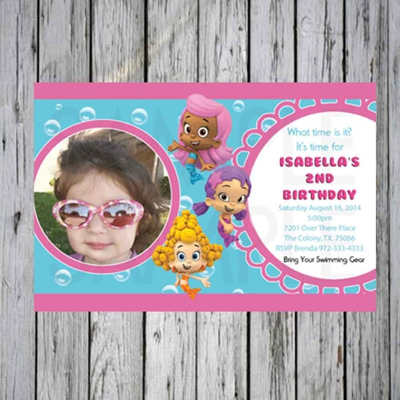 Bubble Guppies Birthday Party Invitation Bubble Guppies – Bubble Guppies Party Invites