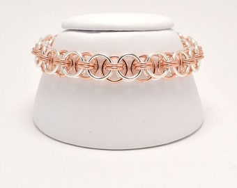 Helm Bracelet in Rose Gold Fill and Sterling Silver